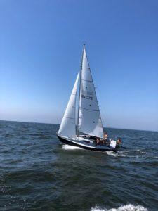 X79 Segelboot beim Segeln